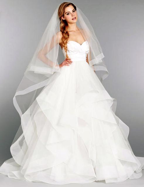 2016 Новый Белый или Слоновая Кость Sexy-Line Тафта Свадебное Платье Из Органзы Свадебное ...