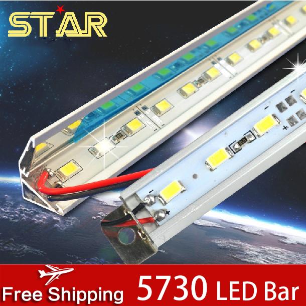 EXCLUSIVE! 10pcs LED Bar Light 500mm SMD 5730 V-Shape 72leds/m or 90leds/m 12V Cabinbet Aluminum LED Strip Rigid Bar Light Lamps(China (Mainland))