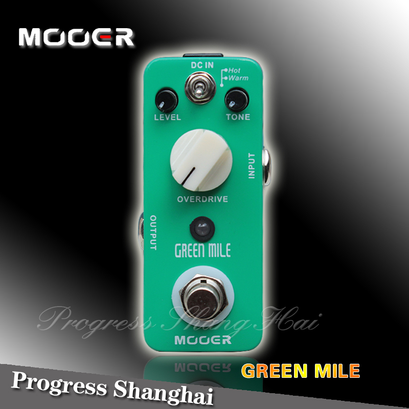 Guitar Effects Pedal / MOOER Green Mile Guitar effects Overdrive Pedal free shipping