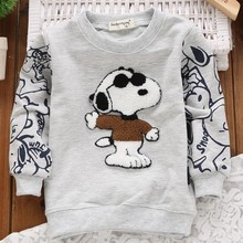 Fashion Baby Kids Sweatshirt New Autumn 2015 Boys/Girls Sweatshirt Covered Printing Children T Shirt Hoodie Polerones Moletom