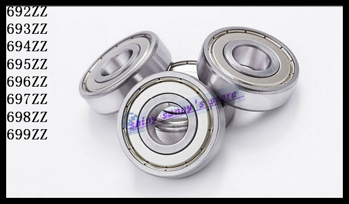 30pcs/Lot 695ZZ 695 ZZ 5x13x4mm Mini Ball Bearing Miniature Bearing Deep Groove Ball Bearing