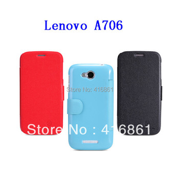 A706 Fresh Series Leather Case High Quality leather case for Lenovo A706,Nillkin PU leather cell phone case cover,Free shipping