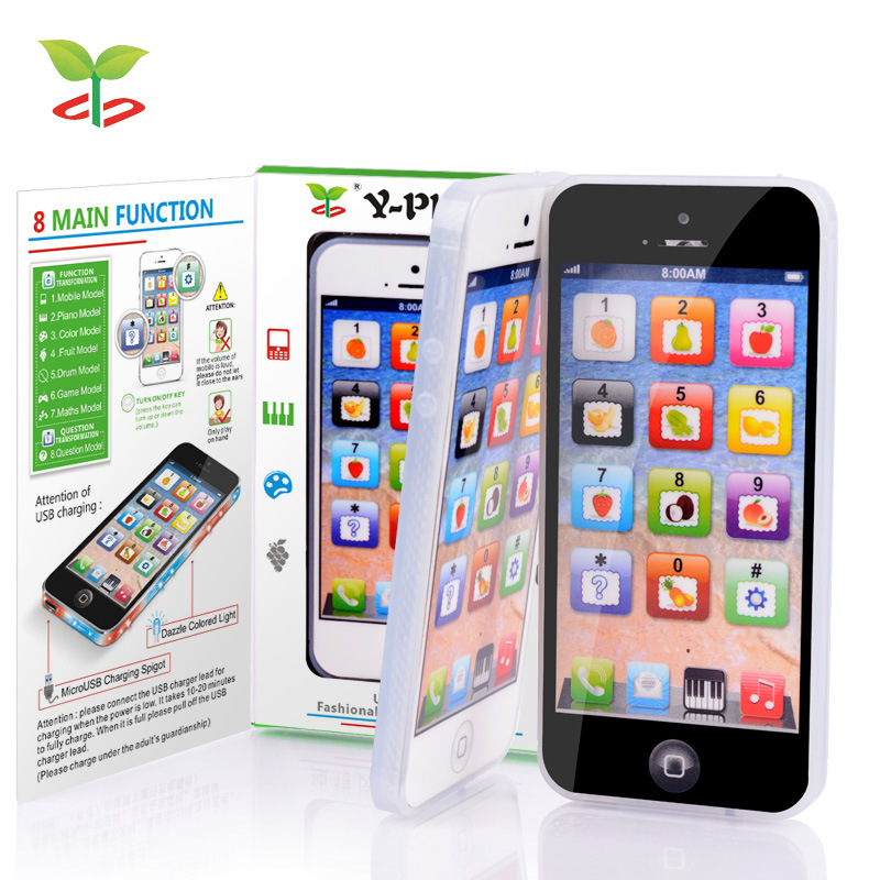 YPhone Educational Learn Baby Kids Toys Y-Phone English Learning Machine + USB Cable White Local In USA(China (Mainland))