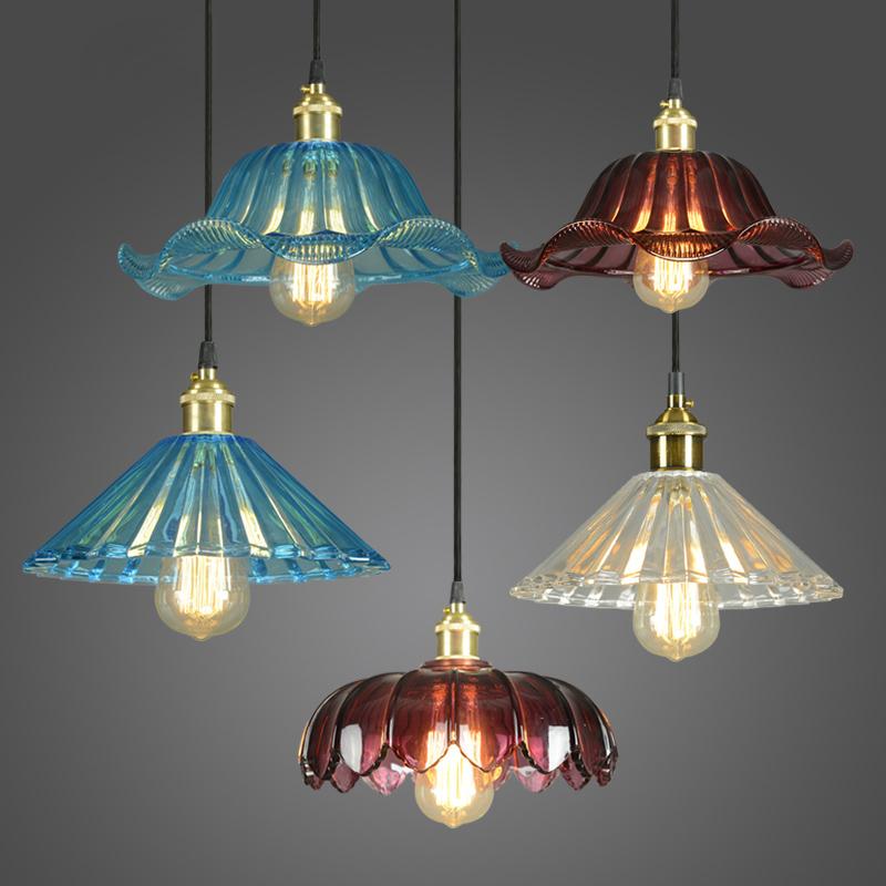 Здесь можно купить  Loft industrial wind chandelier American retro single European crystal glass shades restaurant bar flower chandelier  Свет и освещение