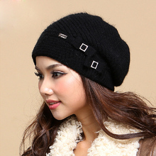 Winter Cap Female Wool Knitted Hat High Quality Thicken Warm Fashion Women Hats Caps Beanies Gorro Gorros(China (Mainland))