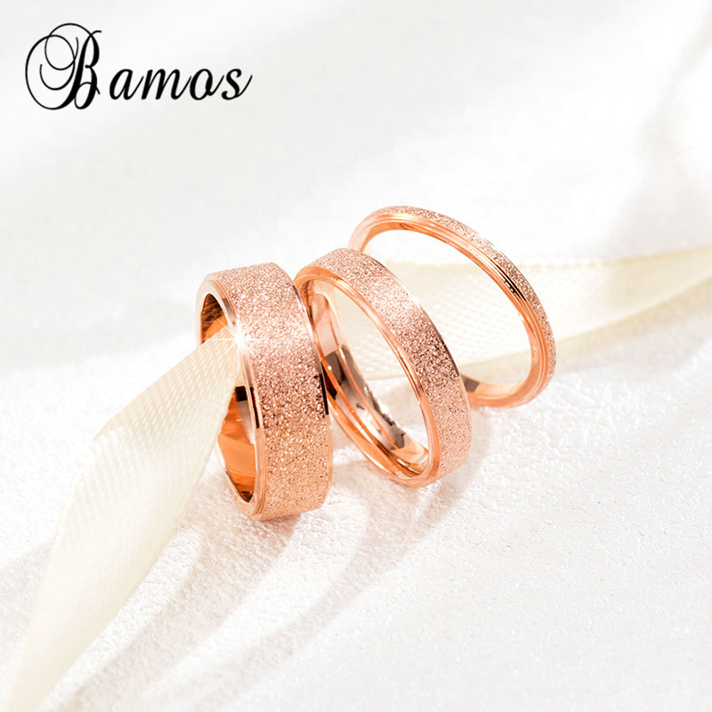 90% OFF ! Fashion Female Girls Geometric Ring Rose Gold Stainless Steel Ring Promise Wedding Engagement Rings For Women(China (Mainland))