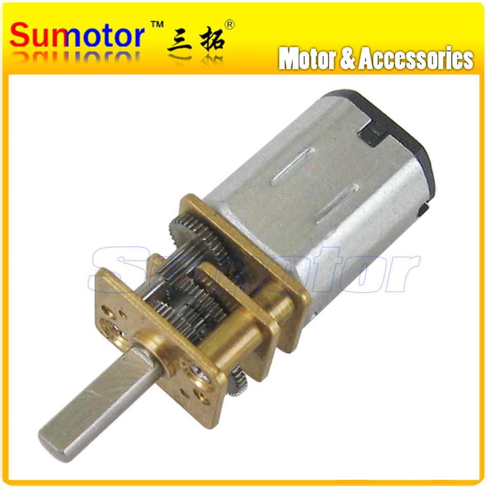 12GA DC 12V Mini Electric Reduction Metal Gear Motor for RC Car robot model DIY engine Toys model Smart car N20 Optional speed(China (Mainland))