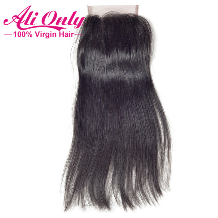 7A Lace Closure Peruvian Straight Closure 4x4 Peruvian Virgin Hair Closure 8