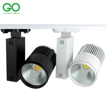 LED COB Track Light 20W Indoor Lighting Rail Lights Spotlight Clothing Shoe Shop 110V 120V 220V 240V Warm Natural Cold white(China (Mainland))