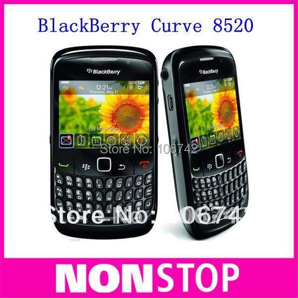 Blackberry 8520 curve quadband 3g wifi gps 2mp unlocked cell phone 1 year warranty wholesale free shipping(China (Mainland))