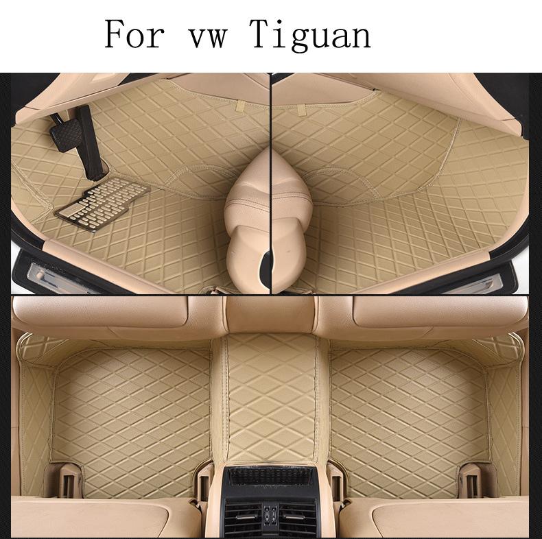 Фотография for Volkswagen VW Tiguan brand leather Wear-resisting custom made Car floor mats black Non-slip waterproof 3D car floor Carpets