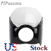 US Clear&Black ABS Plastic Narrow Wide Glide/Custom Mid Glide Fairing Kit For Harley Motorcycle(China (Mainland))