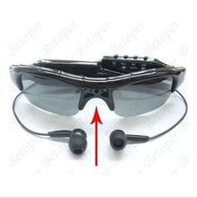 New Fashion Digital Video Sunglasses HD Mini DVR Audio Video Recorder Camera MP3 Music Player sunglasses(China (Mainland))