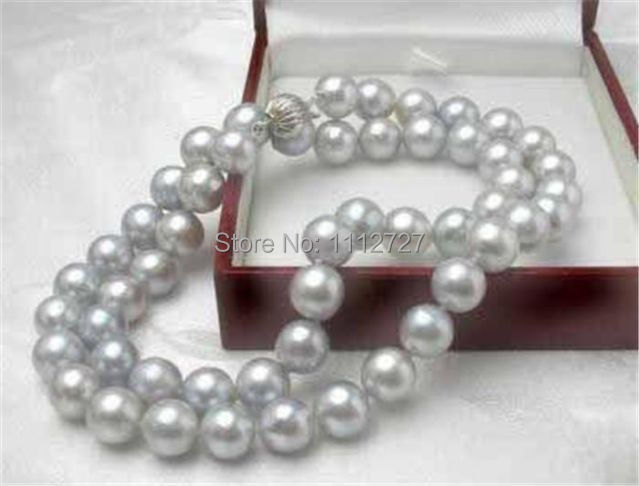 "DIY Charming! 8MM Gray Akoya Cultured Shell Pearl Necklace 18"" AAA beads jewelry making AAA+++ about52pcs/strands(China (Mainland))"