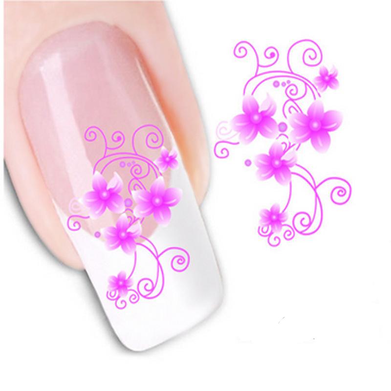 Hot Beautiful Flowers Nail Art Stickers Water Transfer Nail Sticker Water Decals Nail Art Decorations Beauty Manicure Tools(China (Mainland))