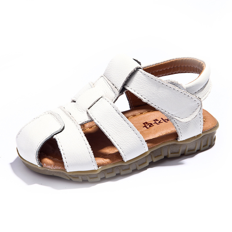 2014 New style Summer Fashion Boy Children Sandals Genuine Leather sandals baby Baotou soft bottom Shoes 2 Years Guarantee(China (Mainland))
