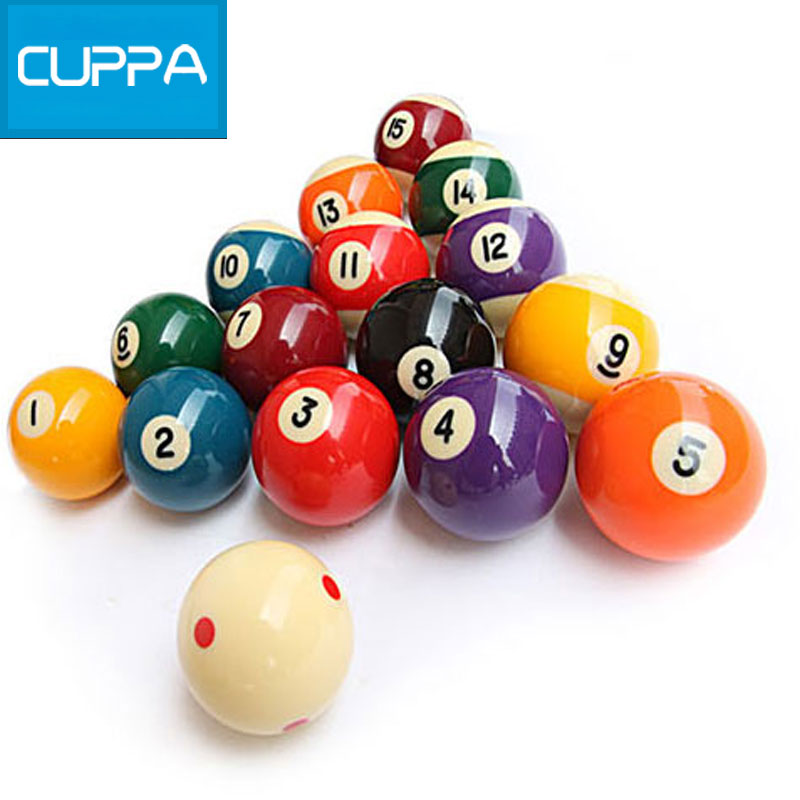 2016 New Cuppa Pool Table Billiard Balls Set 52mm/57mm Billiards Accessories China(China (Mainland))