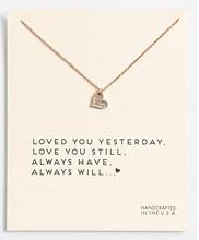 Hot Sale Sparkling heart-shaped gold Pendant necklace short paragraph Sparkle Heart golden Clavicle chain 18k Statement Necklace
