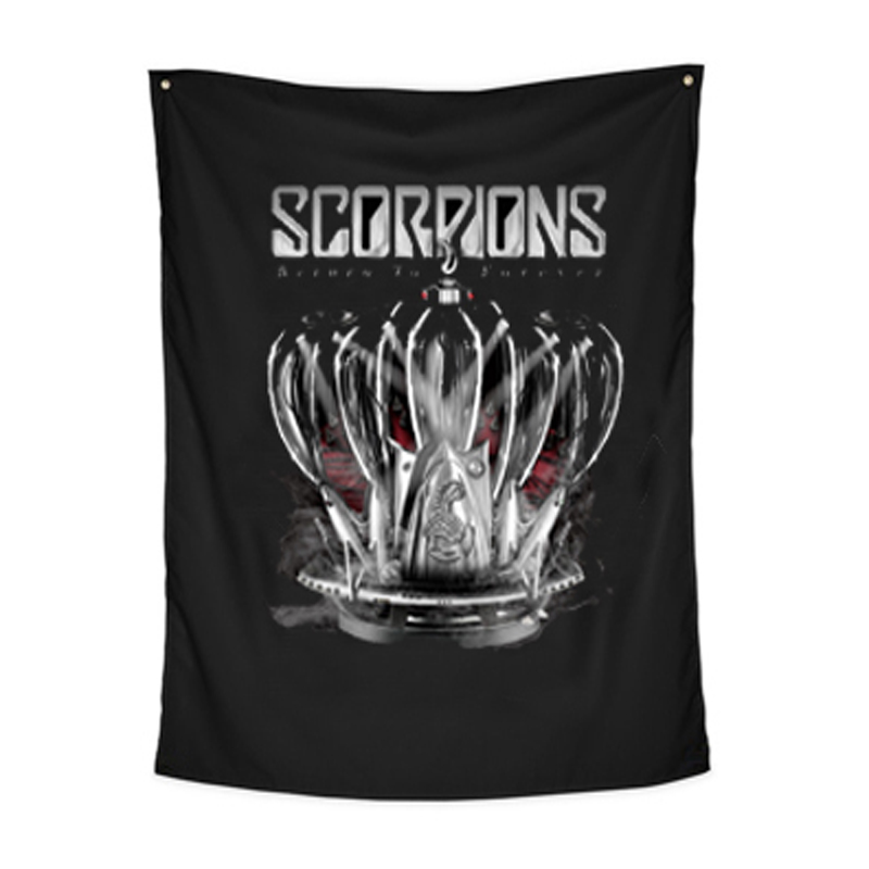 DIY Scorpions Rock Band Hanging Flags And Banners Posters Painting For Bar tattoo Shop Wall Decorations Living Room Curtain(China (Mainland))