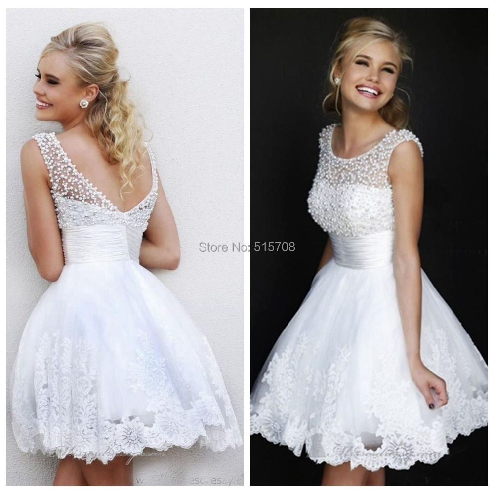 White wedding dress with short sleeves short sleeve jacket sequin white wedding dress with short sleeves neckline cap sleeve beaded pearls a line white short ombrellifo Choice Image