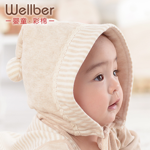 Colored cotton fairy child baby ear protector 100% hat baby cap cotton autumn and winter hat(China (Mainland))