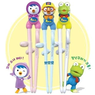 Child tableware pororo little penguin baby training chopsticks learning chopsticks hot-selling 1