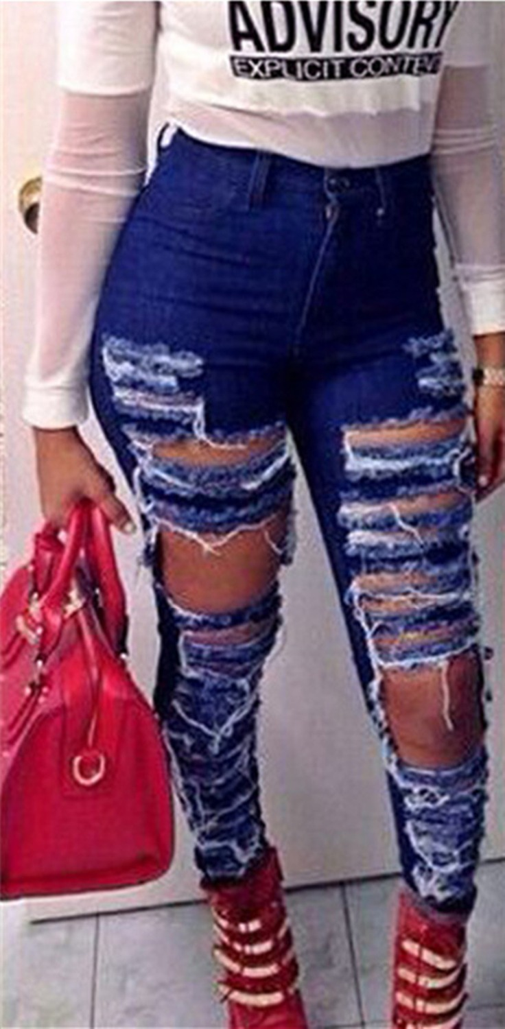 Plus Size Ripped Jeans Cheap - Jeans Am