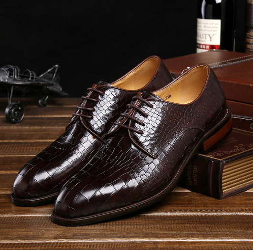 Mens 2015 new stone grain leather handmade British mens shoes business suits pointed shoes<br><br>Aliexpress