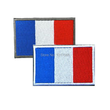 Buy 80*50mm French Flag Embroidered Badge Drapeau de la France Military Tactical Badges Fabric Armband Stickers Backpack Cap Patch for $1.39 in AliExpress store