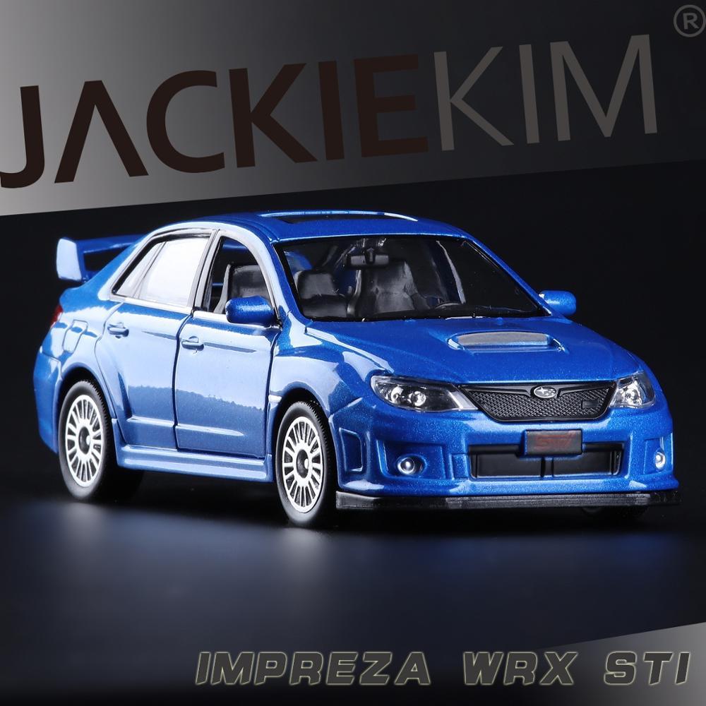 2011 Subaru Impreza 1:36 scale high simulation Coupe,metal pull back WRC STI cars,2 open door,model car toys,free shipping(China (Mainland))