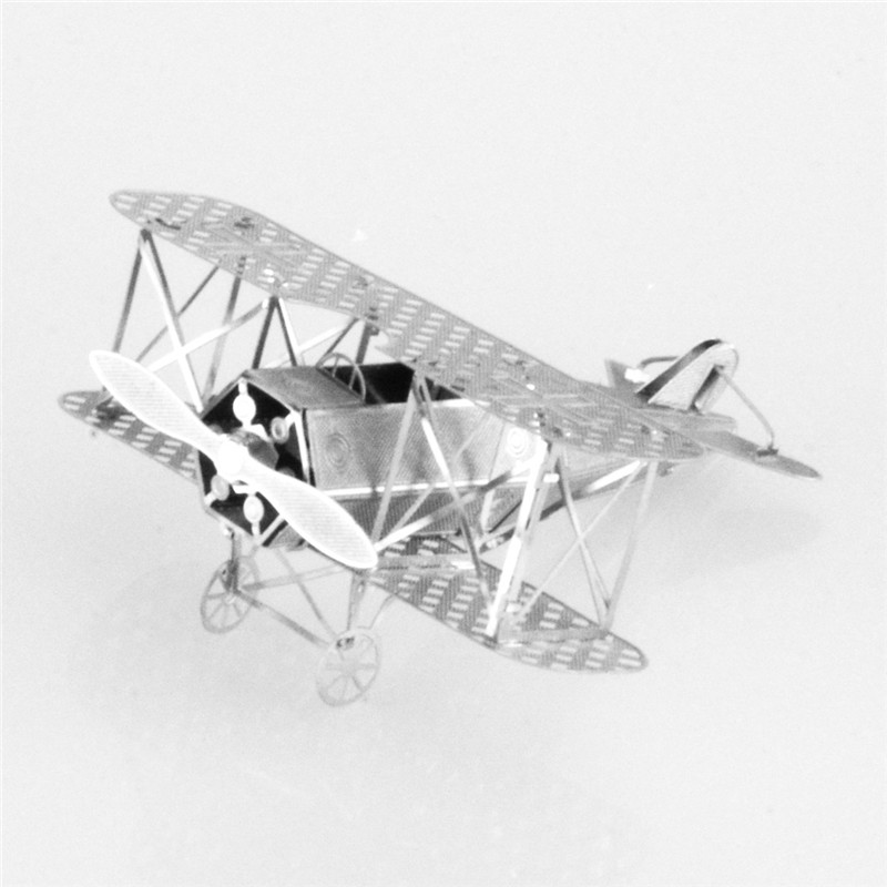 Starz Mini 3D DIY Puzzles Metal Fokker Fighter Model Craft Stainless Steel Military Building Kits Toys Gifts(China (Mainland))