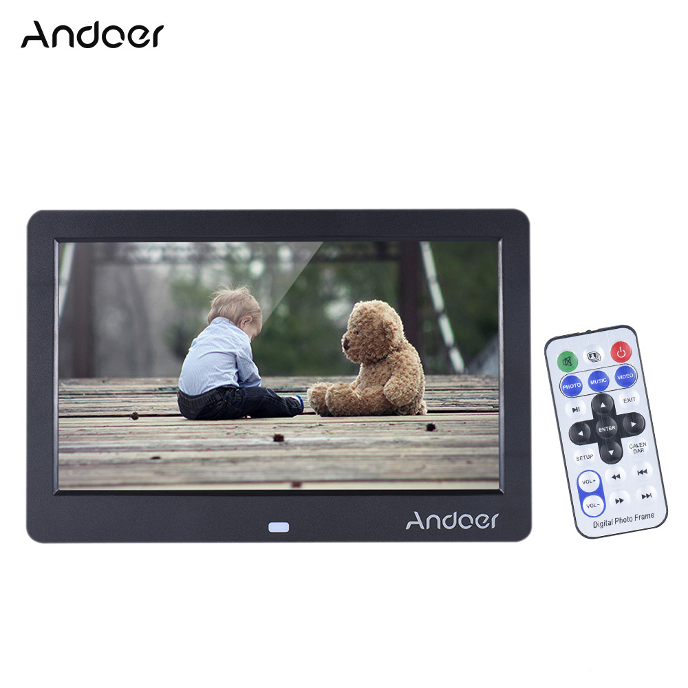 """Andoer 10"""" HD LED Digital Photo Frame 1280*600 Electronic Picture Frame Clock Calendar MP3 MP4 Movie Player with Remote Control(China (Mainland))"""