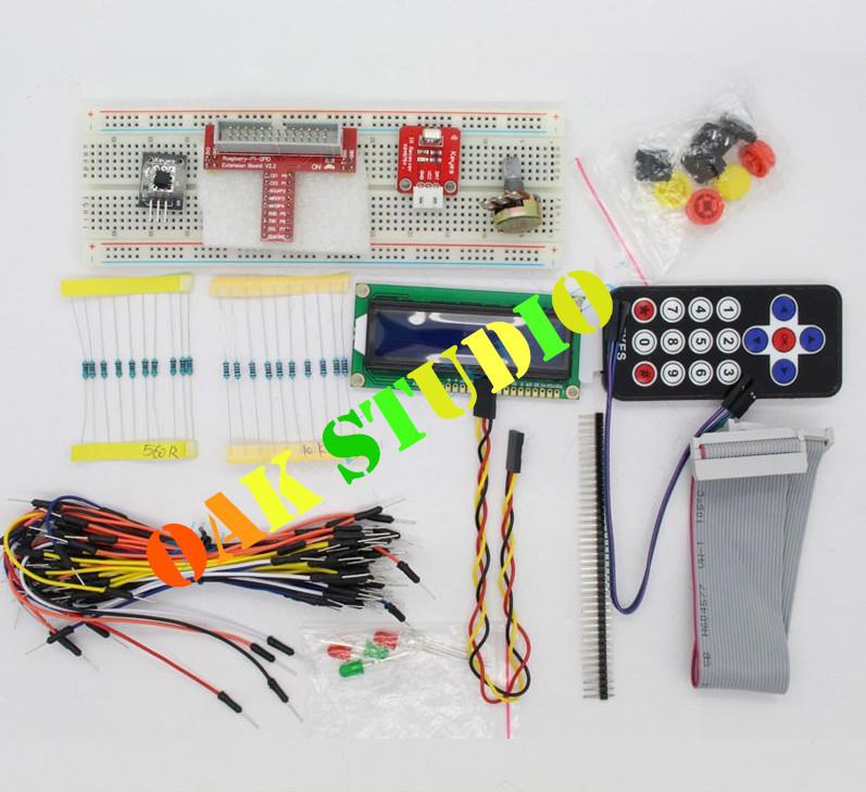 Raspberry PI Kit Breadboard 1602 LCD GPIO Adapter Cable LED Sensor, for Smart car,tank,Robotic Animals Development,free shipping(China (Mainland))