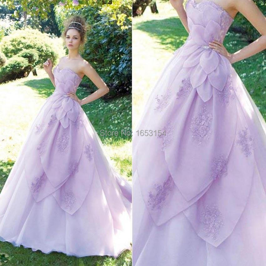 Lavender wedding dresses beautiful sweetheart hand made for Wedding dress made of flowers