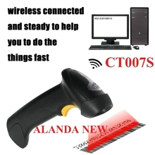 FreeShipping AFANDA New! CT007S 2.4G 30m Wireless Laser Barcode Scanner W/Storage Wireless/Wired for Windows/Windows CE+Mobile(China (Mainland))