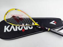 Quality Karakal Squash Racket With Bag Carbon Squash Racquet Yellow Green Squash Racquet With Racket Bag Karakal Squash Racquets(China)