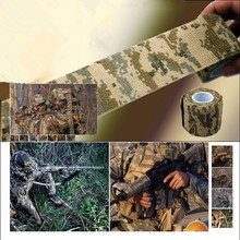 Free Shipping 1 Roll Camo Stretch Bandage,Camping Hunting Camouflage Tape for Gun,Cloths Hot