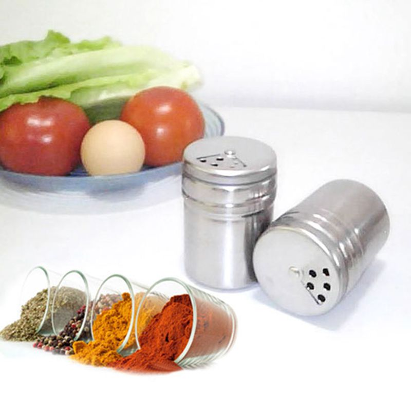 2016 New Stainless Steel Multifunction Salt Pepper Seasonings Shaker Toothpicks Jar Shape Kitchen Accessories Free Shipping(China (Mainland))