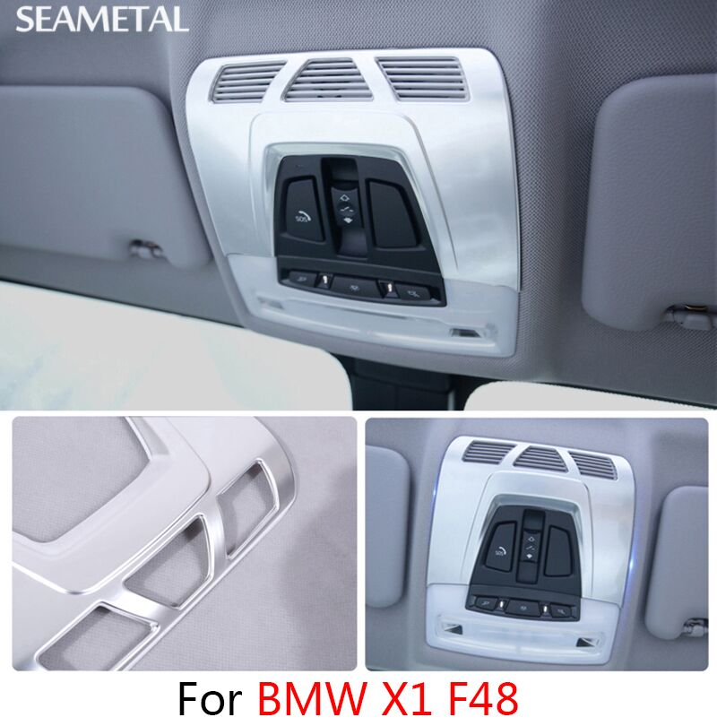 For BMW X1 F48 2016 2017 Car Dome Reading Lights Frame Stickers Sequins Internal Decoration Auto Accessories Car-styling(China (Mainland))