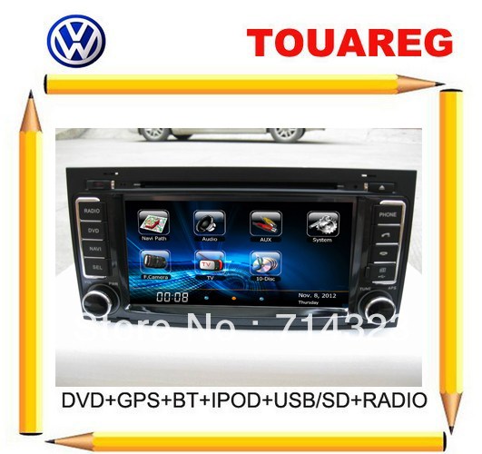 Promotion!!! VW Touareg Car DVD with GPS,Radio,Canbus,SWC,Audio Video Player+Russian Menu+Bluetooth Ipod tv usb+Free shipping !!(China (Mainland))