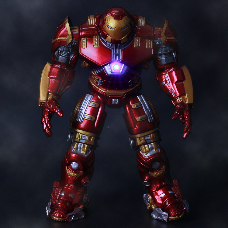 2015 Hot NEW 1pcs movie avengers 2 18cm Age of Ultron light Iron man metal Mark 43 Hulkbuster PVC Action Figure toys dolls(China (Mainland))