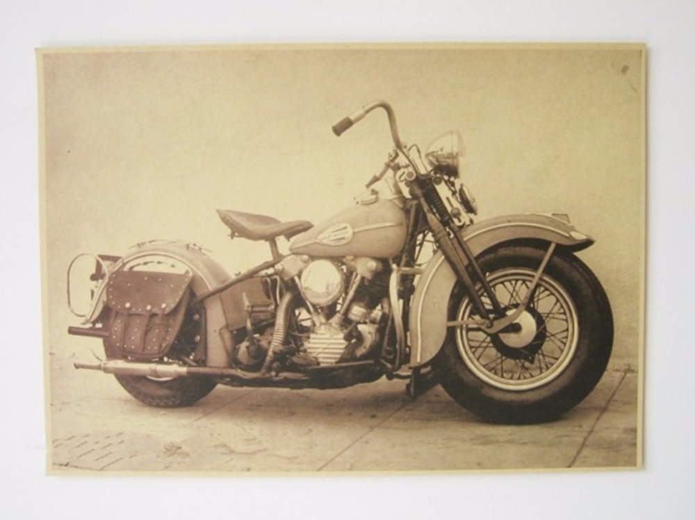 Motorcycle wall paper promotion shop for promotional for Vintage home decor