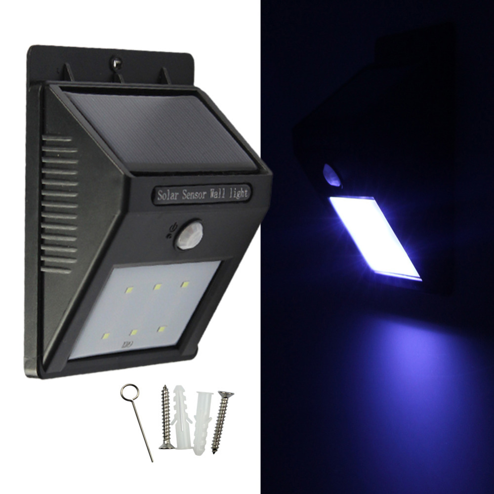 Miyole 6leds Led Solar Motion Sensor Light White 2835 Waterproof Bright Outdoor Led Light
