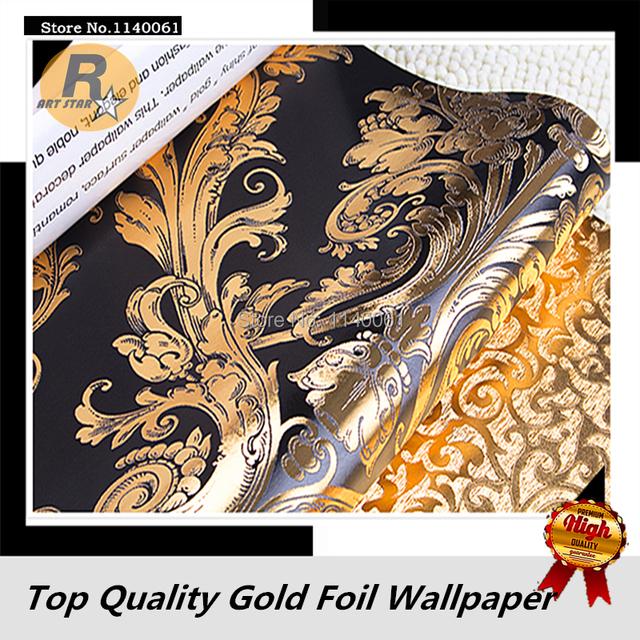 Aliexpress.com : Luxuriöse Damaskus Muster Schwarz und Goldene ...