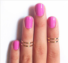 New products sell like hot cakes 4 PCS/set of gold and silver 925 lovely women on flood plains joint ring(China (Mainland))