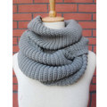 High Quality FreeShipping Hot Women Lady Winter Warm Infinity 2 Circle Cable Knit Cowl Neck Long