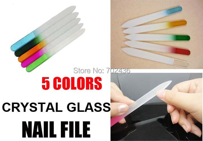 "professional Glass Nail Files Durable Crystal nail polish File 5-1/2"" nail tools for nail art manicure care wholesales 20pcs/lot(China (Mainland))"