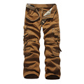 New Arrival Tactical Style Men Loose Overalls Multi Pockets Gargo Pants Solid 6 Colors Men s