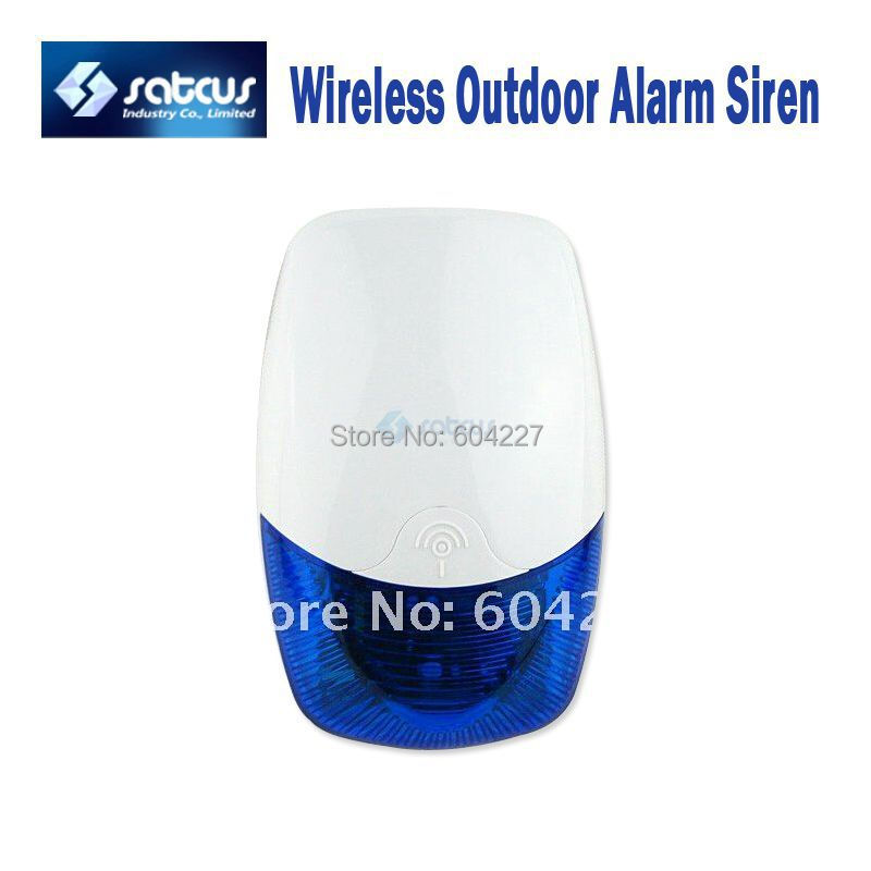 Free Shipping! Wireless Outdoor Waterproof Alarm Siren Horn with Strobe Light for Home GSM Alarm Systems<br><br>Aliexpress