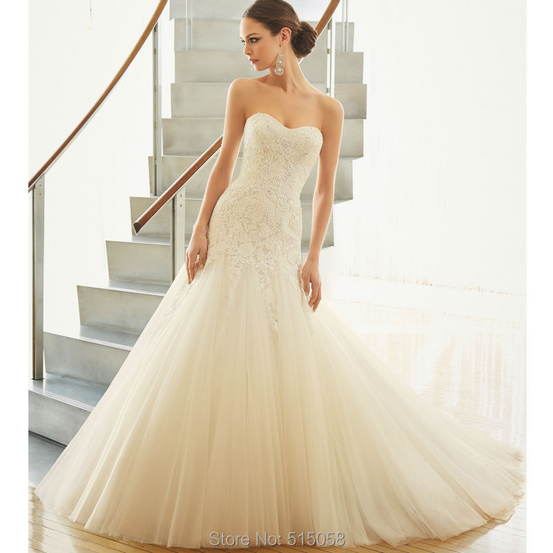 Buy vintage lace sweetheart mermaid for Best stores for dresses for weddings